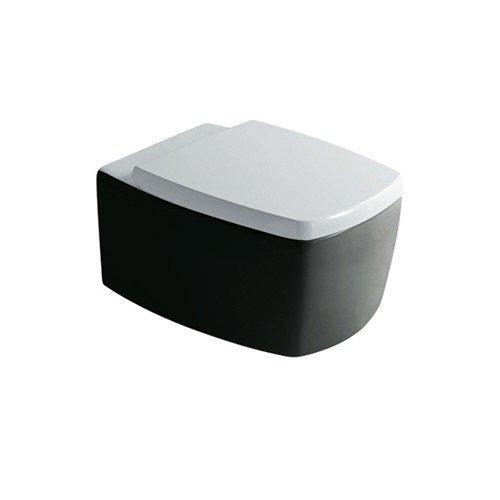 wc suspendu midas noir blanc 52x38. Black Bedroom Furniture Sets. Home Design Ideas