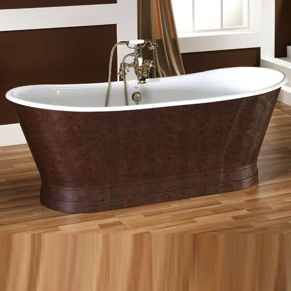 baignoire ancienne epoque ext rieur cuir. Black Bedroom Furniture Sets. Home Design Ideas