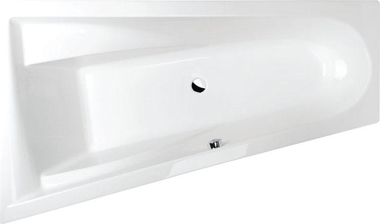 Baignoire baln o asym trique chiquita l 170x100x45cm - Baignoire balneo asymetrique ...