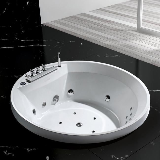 Baignoire baln o ronde encastr e sanssouci 160x60cm for Baignoire profondeur 60 cm