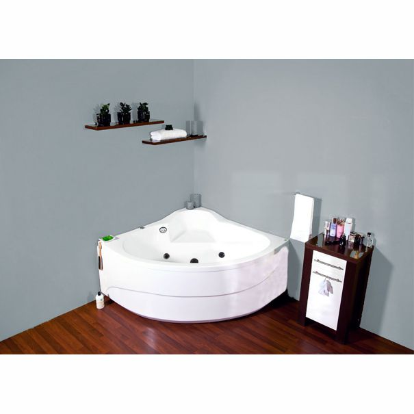 baignoire baln o d 39 angle flamenco 135x135 victory spa. Black Bedroom Furniture Sets. Home Design Ideas