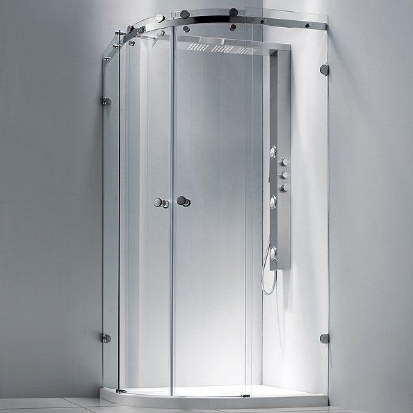 douche complete parois receveur et colonne round 2 aquabains With porte de douche coulissante avec radiateur infrarouge salle de bain avec minuterie