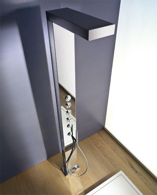 douche en pied brancher au sol avec m langeur ritmonio. Black Bedroom Furniture Sets. Home Design Ideas