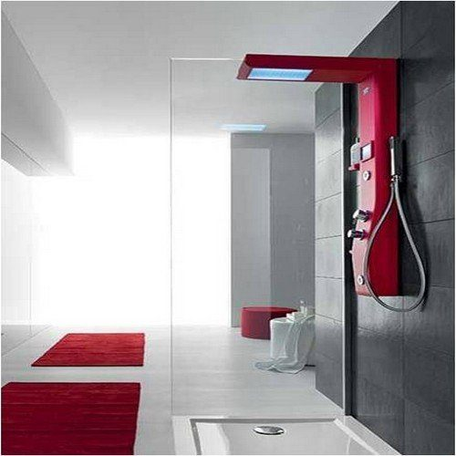 colonne de douche design etoile 125x21x60cm 2 jets hydromassages. Black Bedroom Furniture Sets. Home Design Ideas