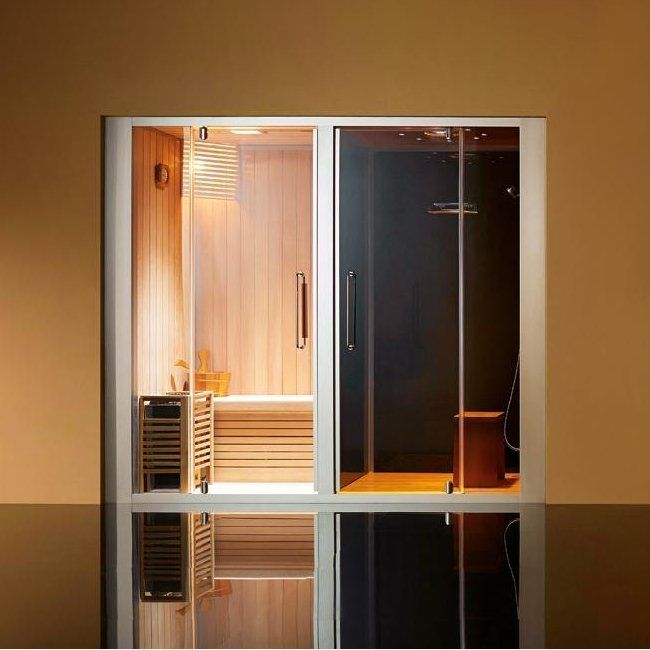 combin douche hammam sauna miami love. Black Bedroom Furniture Sets. Home Design Ideas