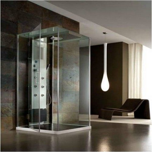 cabine de douche italienne multifonction de face. Black Bedroom Furniture Sets. Home Design Ideas