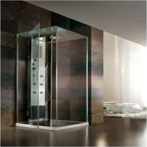 cabine de douche italienne multifonction d 39 angle rigenera box 80x90cm. Black Bedroom Furniture Sets. Home Design Ideas