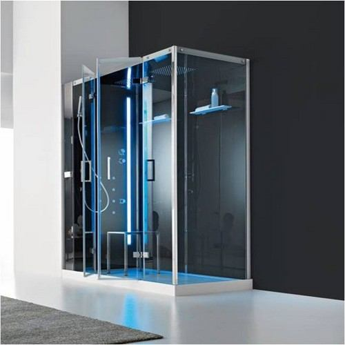 cabine de douche italienne d 39 angle multifonction en niche talos plus 160x80cm. Black Bedroom Furniture Sets. Home Design Ideas