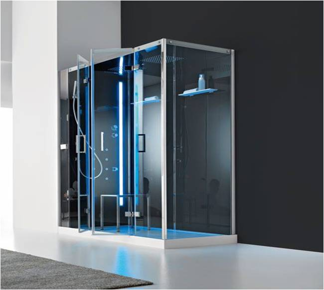 cabine de douche italienne multifonction d 39 angle talos plus 160x80cm. Black Bedroom Furniture Sets. Home Design Ideas