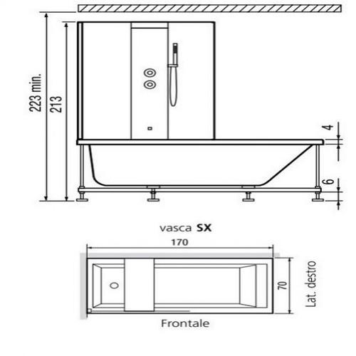 Baignoire porte era whirlpool 190x90cm for Baignoire d angle avec porte