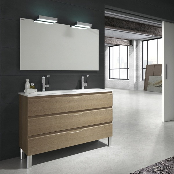 meuble valenzuela salle de bain allegro 120x46x46 3 tiroirs et 2 vasques. Black Bedroom Furniture Sets. Home Design Ideas