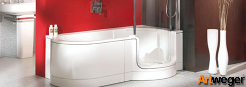 Artweger baignoire receveur et accessoires de salle de for Baignoire avec porte kinedo