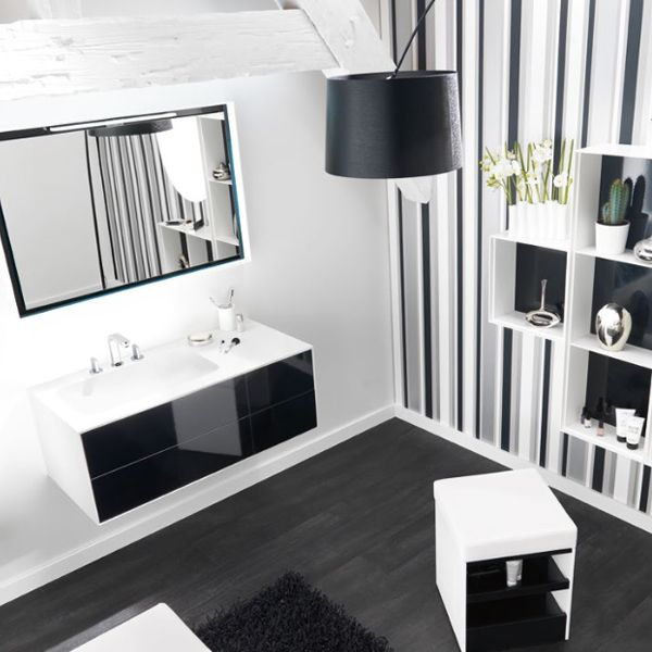 meubles vasque de salle de bain kito 105cmx50cm. Black Bedroom Furniture Sets. Home Design Ideas