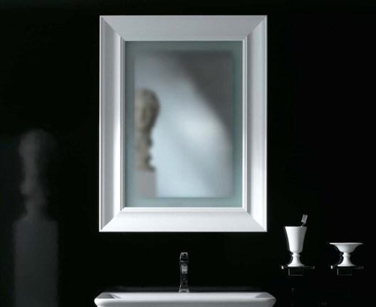 Miroir ceramica globo s rie relais 70 cm bord brillant for Miroir 70 cm