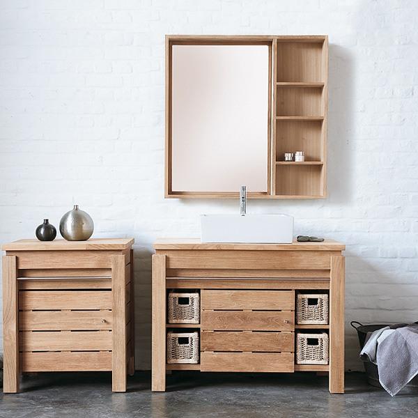 Meuble de salle de bain 1 porte et etag re origin for Meuble etagere salle de bain