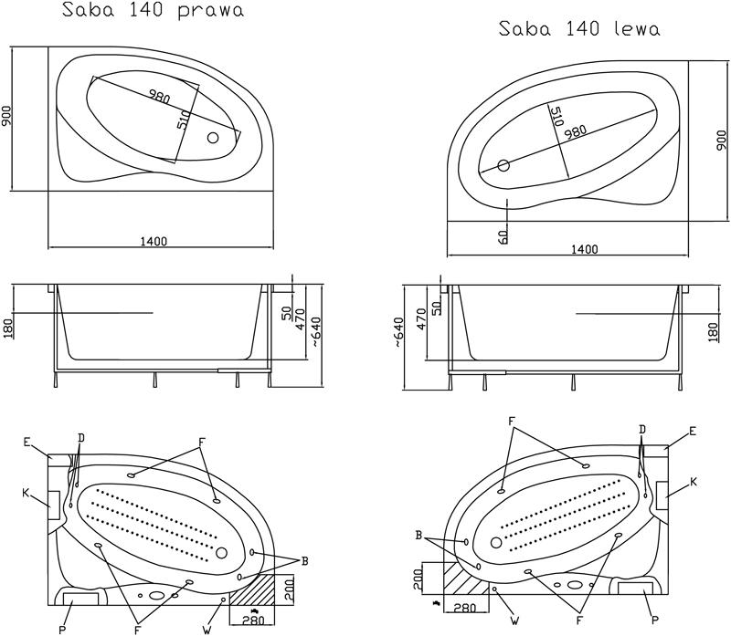 baignoire 140 x 90. Black Bedroom Furniture Sets. Home Design Ideas