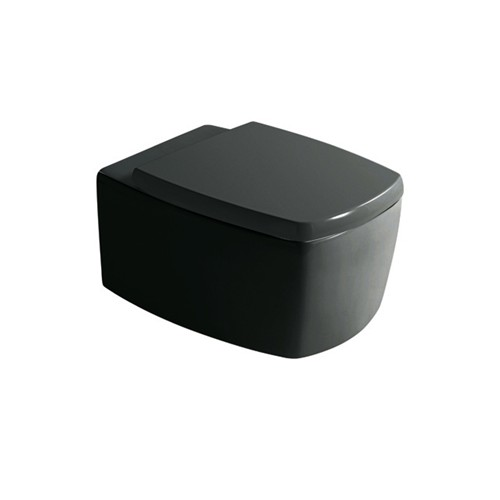 wc suspendu midas noir 52x38. Black Bedroom Furniture Sets. Home Design Ideas