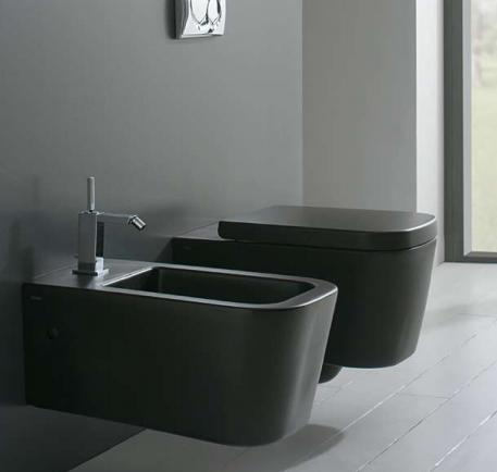 wc suspendu stone noir mat 45x36. Black Bedroom Furniture Sets. Home Design Ideas
