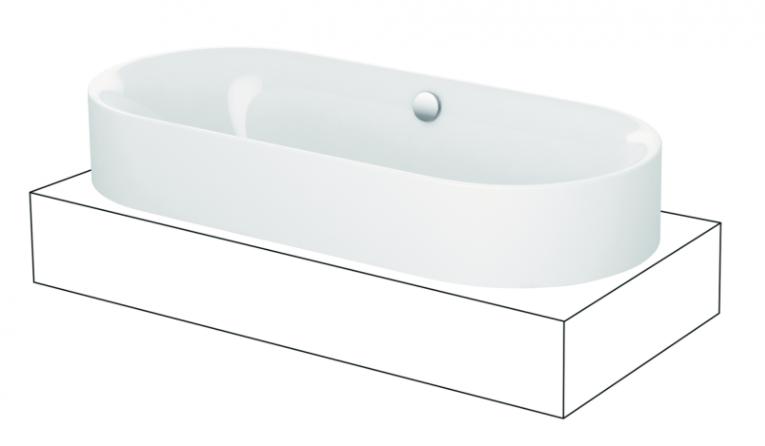 baignoire ovale 190x90cm bettelux oval highline 3467 bette. Black Bedroom Furniture Sets. Home Design Ideas