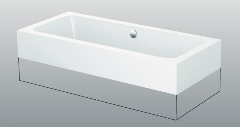 baignoire rectangulaire 180x80cm betteone highline 3313. Black Bedroom Furniture Sets. Home Design Ideas