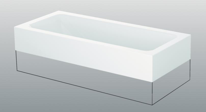 baignoire rectangulaire 180x80cm betteone relax highline 3323 bette. Black Bedroom Furniture Sets. Home Design Ideas