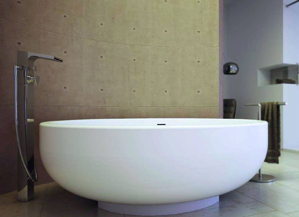 baignoire design gold tub 150 white stonage. Black Bedroom Furniture Sets. Home Design Ideas