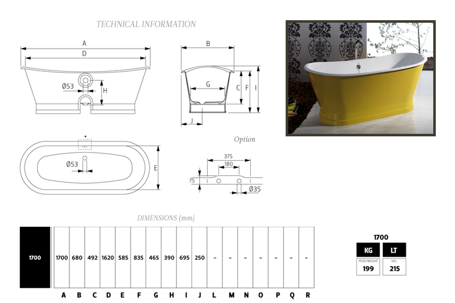 baignoire epoque en fonte maill e ext rieur cuivre bleu. Black Bedroom Furniture Sets. Home Design Ideas