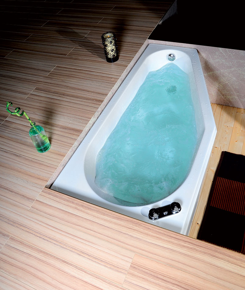 baignoire baln o asym trique tigra r 170x80x46cm. Black Bedroom Furniture Sets. Home Design Ideas