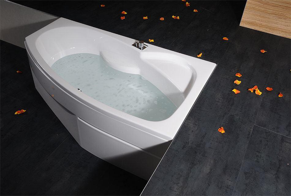 baignoire baln o asym trique mamba l 160x100x44cm. Black Bedroom Furniture Sets. Home Design Ideas