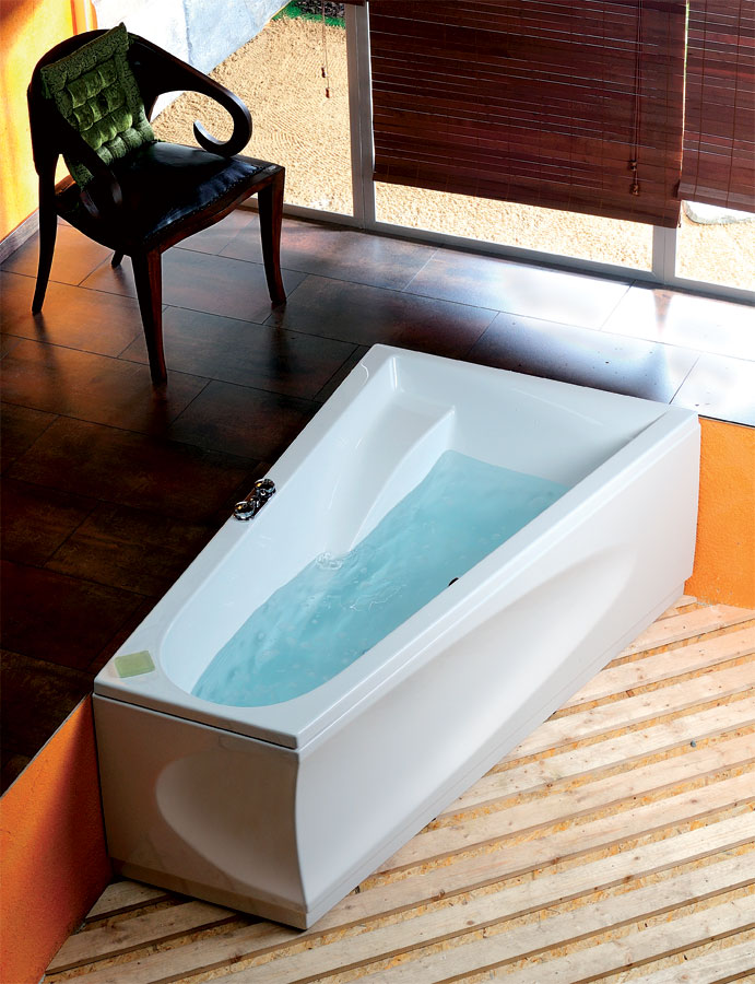 baignoire baln o asym trique chiquita r 170x100x45cm. Black Bedroom Furniture Sets. Home Design Ideas