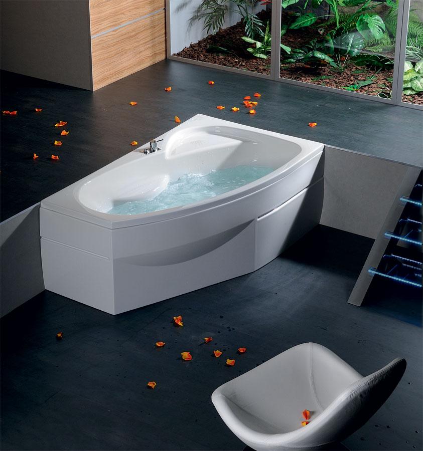 baignoire baln o asym trique mamba l 170x100x44cm. Black Bedroom Furniture Sets. Home Design Ideas