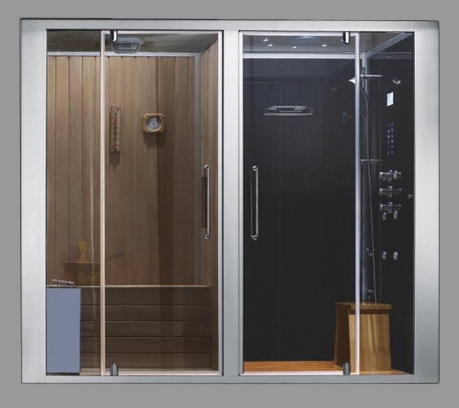 douche hammam sauna. Black Bedroom Furniture Sets. Home Design Ideas