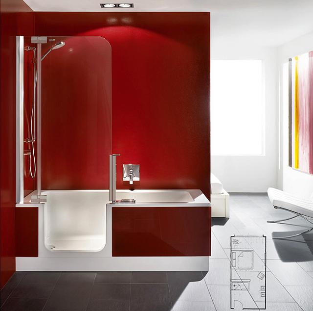 Baignoire douche avec porte pas cher photos de for Baignoire balneo 130x130