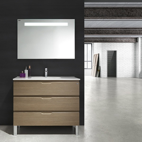 meuble valenzuela salle de bain allegro 80x46x46 3 tiroirs et vasque. Black Bedroom Furniture Sets. Home Design Ideas