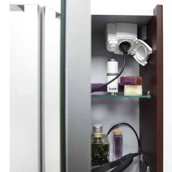 Armoire salle de bain prise - Miroir salle de bain avec eclairage integre et prise ...