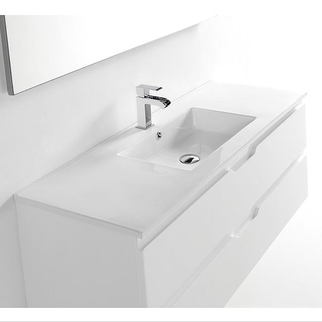 Meuble salle de bain allegro 120x46x46 2 tiroirs et 2 vasques - Meuble salle de bain 140 cm simple vasque ...