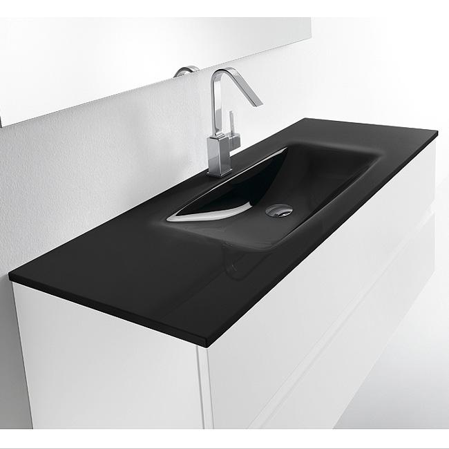 Meuble avec vasque valenzuela et 2 tiroirs solco 100x46x46 for Meuble salle de bain 2 vasques pas cher