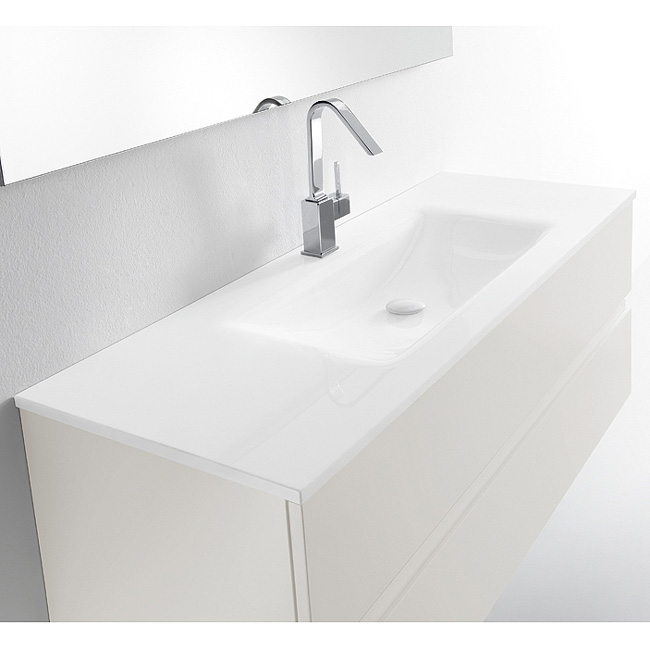Meuble avec vasque valenzuela et 2 tiroirs solco 100x46x46 - Meuble salle de bain 140 cm simple vasque ...