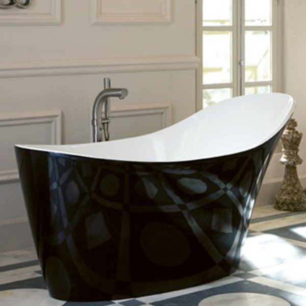 Baignoire salle de bain baignoire amalfi noir victoria albert - Robinet pour baignoire ilot pas cher ...