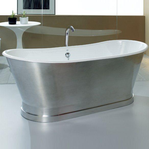 baignoire epoque 170x68cm ext rieur aluminium mat. Black Bedroom Furniture Sets. Home Design Ideas