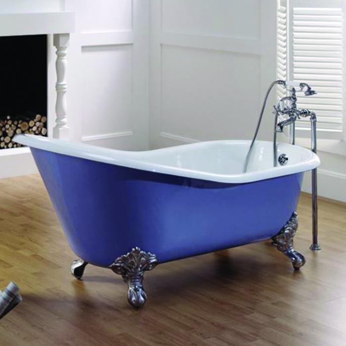 baignoire bleu provence baignoire lavande avec ext rieur fonte 137x76cm. Black Bedroom Furniture Sets. Home Design Ideas