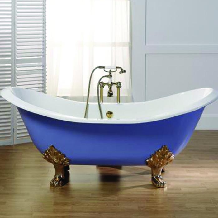Quelque chose de nouveau assez Baignoire ancienne Thym avec pieds 180x77 - Bleu Provence &MS_75