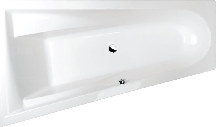 baignoire baln o asym trique chiquita l 170x100x45cm. Black Bedroom Furniture Sets. Home Design Ideas
