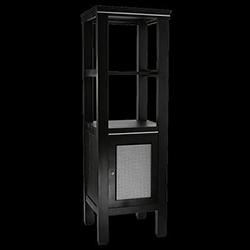 Salle de bain : Colonne Cuda avec 1 porte en bois/verre opaque ...