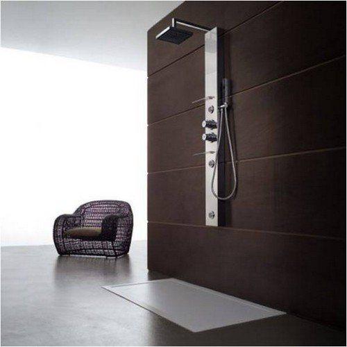 colonne de douche italienne en acier bridge 155x16. Black Bedroom Furniture Sets. Home Design Ideas