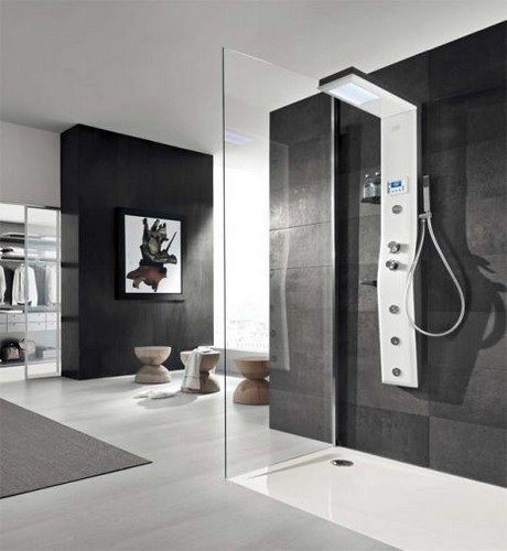 colonne de douche etoile 160x21x60 bec de remplissage jets hydromassages. Black Bedroom Furniture Sets. Home Design Ideas