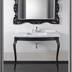 console oban avec un grand lavabo radcliffe pour salle de bain imperial. Black Bedroom Furniture Sets. Home Design Ideas