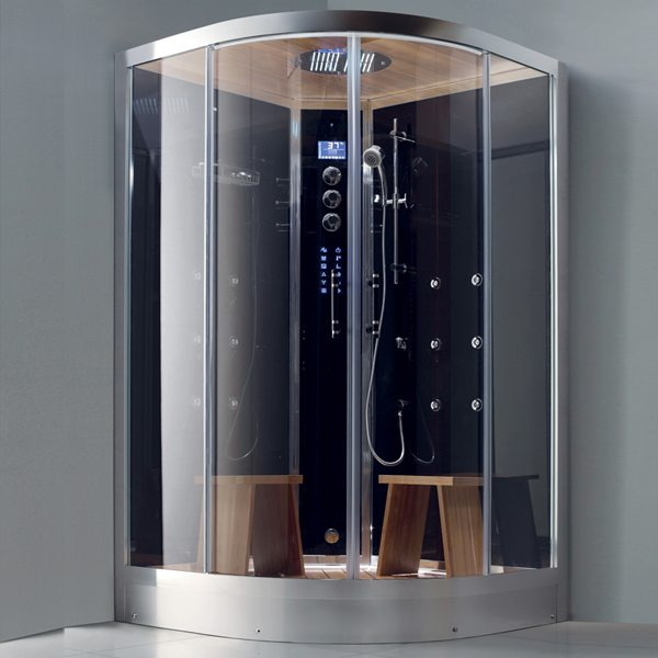 Douche hammam new york d angle 120 x 120 cm - Cabine hammam places ...