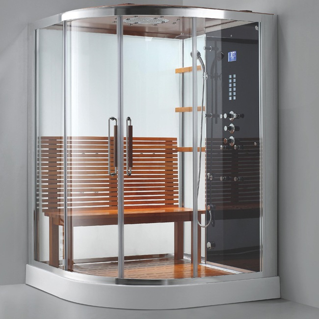 Douche hammam rome lounge aquabains - Cabine douche hammam sauna ...