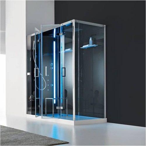 Cabine de douche italienne d 39 angle multifonction en niche - Baignoire douche hammam ...